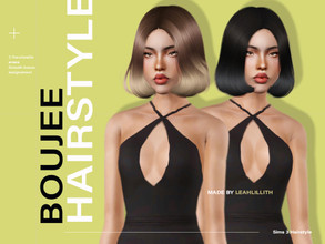 Sims 3 — LeahLillith Boujee Hair by Leah_Lillith — Boujee Hair All LODs Smooth Bones Custom CAS thumbnail