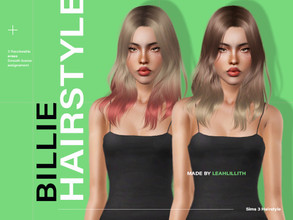 Sims 3 — LeahLillith Billie Hairstyle by Leah_Lillith — Billie Hairstyle All LODs Smooth Bones Custom CAS thumbnail