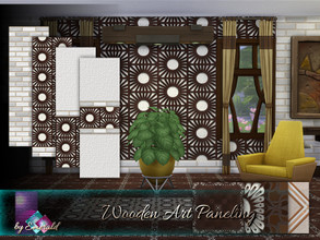 Sims 4 — Wooden Art Paneling by Emerald — Creating a unique dimensional wood look for any room in your home or business