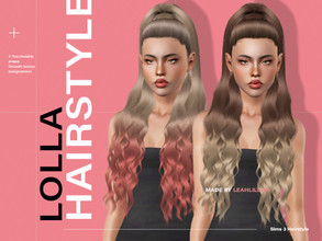 Sims 3 — LeahLillith Lolla Hair by Leah_Lillith — Lolla Hair All LODs Smooth bones Custom CAS thumbnail