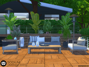 Sims 4 — Sodium Outdoor Living by wondymoon — Sodium Modern Outdoor Living part of big outdoor project; Living, Dining,