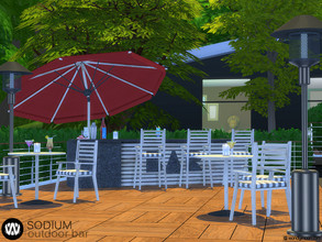 Sims 4 — Sodium Outdoor Bar by wondymoon — Sodium Modern Outdoor Bar part of big outdoor project; Living, Dining, Bar,