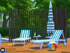 Sims 4 — Sodium Outdoor Poolside Lounge by wondymoon — Sodium Modern Outdoor Poolside Lounge part of big outdoor project;