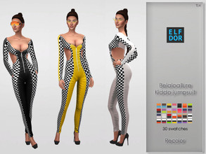 Sims 4 — Belaloallure Kiddo Jumpsuit Recolor by Elfdor — Its a standalone recolor of Belaloallure jumpsuit and you will