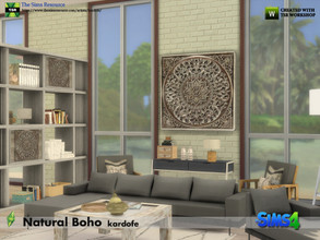 Sims 4 — kardofe_Natural Boho Room by kardofe — First part of a living room decorated in the natural boho style, with