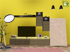 Sims 3 — Qiemo Living Room TV Units by ArtVitalex — - Qiemo Living Room TV Units - ArtVitalex@TSR, Feb 2020 - All objects