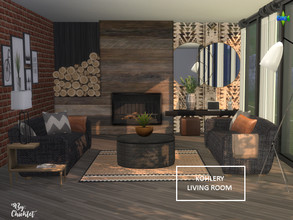 Sims 4 — Kohlery Living Room by Chicklet — The Kohlery living room set features a floor to ceiling fireplace and comes in