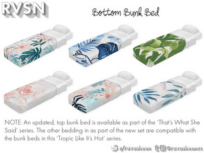 Sims 4 — Sleep On It - Lower Mattress by RAVASHEEN — Single mattress that can be paired with any bed frame. Bedding comes