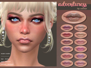 Sims 4 — [ Adventuress ] - Lip Colour by Screaming_Mustard — A slightly glossy, pale lip colour. With custom thumb nail.