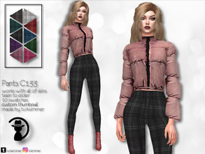Sims 4 — Pants C133 by turksimmer — 10 Swatches Works with all of skins Custom Thumbnail Teen to Elder For; Female