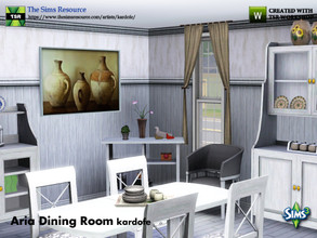 Sims 3 — kardofe_Aria Dining Room by kardofe — Ten new meshes to recreate a classic rustic style dining room