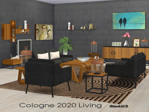 Sims 4 — Living Cologne 2020 by ShinoKCR — Furniture Set inspired by the Furniture Fair at Cologne 2020 -Loveseat -Living