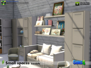 Sims 4 — kardofe_Small spaces by kardofe — Furniture to recreate a mini house or auto caravan, are high shelves that can
