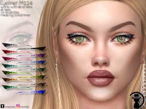 Sims 4 — Eyeliner M124 by turksimmer — 14 Swatches Works with all of skins Custom Thumbnail All ages For; Female