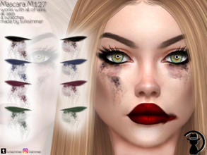 Sims 4 — Mascara M127 by turksimmer — 4 Swatches Works with all of skins Custom Thumbnail All ages For; Female