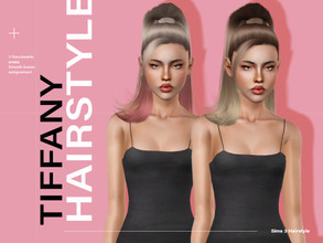 Sims 3 — LeahLillith Tiffany Hairstyle by Leah_Lillith — Tiffany Hairstyle All LODs Smooth Bones Custom CAS thumbnail