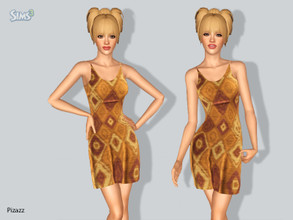 Sims 3 — Sundress V-003 by pizazz — Add some fun to your summer with this nice sundress base game my mesh