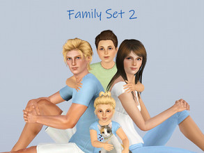 Sims 3 — Family Set 2 Portrait Set by jessesue2 — Another portrait set with 5 members of the family. 2 adults, one child,