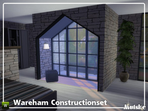 Sims 4 — Wareham Constructionset Part 5 by Mutske — This is the fifth part of the Wareham Construction. This set contains
