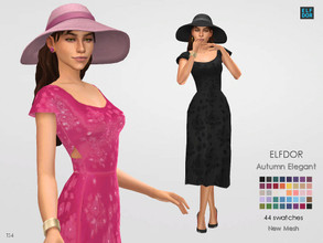 Sims 4 — Autumn Elegant by Elfdor — - 44 swatches - new mesh all LODs - teen to elder - everyday, formal, party - base