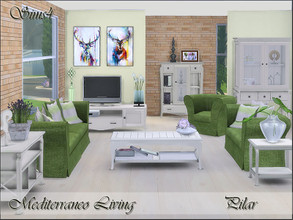 Sims 4 — Mediterraneo Living. by Pilar — The light of the Mediterranean