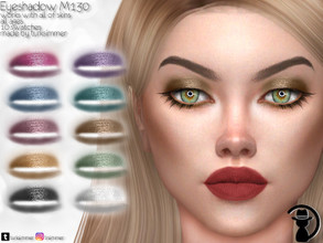 Sims 4 — Eyeshadow M130 by turksimmer — 10 Swatches Works with all of skins Custom Thumbnail All ages For; Female