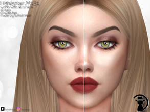 Sims 4 — Highlighter M131 by turksimmer — 6 Swatches Works with all of skins Custom Thumbnail All ages For; Female