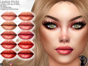 Sims 4 — Lipstick M132 by turksimmer — 10 Swatches Works with all of skins Custom Thumbnail All ages For; Female