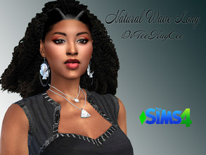 Sims 4 — Natural Wavy Long by drteekaycee — This is a thick long wavy pull back hairstyle for those sims who prefer the