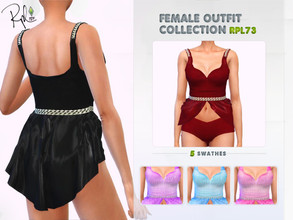 Sims 4 — Female Outfit Collection RPL73 by RobertaPLobo — :: 5 swatches :: New Mesh :: All Lods :: Age: Adult (Female) ::