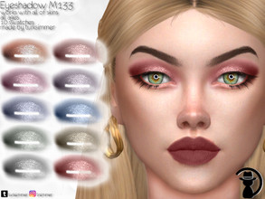 Sims 4 — Eyeshadow M133 by turksimmer — 10 Swatches Works with all of skins Custom Thumbnail All ages For; Female