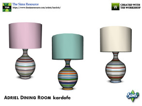 Sims 3 — kardofe_Adriel Dining Room_TableLamp by kardofe — Table lamp with very colorful decoration, in three different
