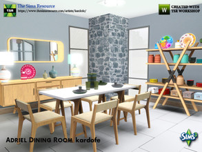 Sims 3 — kardofe_Adriel Dining Room by kardofe — Set of 14 new meshes to recreate a retro-inspired dining room with many