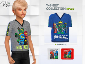 Sims 4 — T-shirt Collection RPL37 by RobertaPLobo — :: T-Shirt for Child (only Boy) :: 4 swatches :: Occult: ALL ::