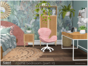 Sims 4 — Alisha bedroom (part II) by Severinka_ — A set of furniture and decor for the design of the room in the