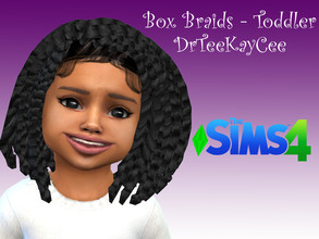 Sims 4 — Box Braids Toddler - BGC by drteekaycee — This lovely natural hairstyle is for your toddler sims. Little girls'