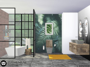 Sims 4 — Ruthenium Bathroom by wondymoon — Ruthenium Bathroom and decorations! Have fun! - Set Contains * Sink * Cabinet