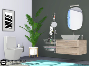 Sims 4 — Ruthenium Bathroom Decorations by wondymoon — Ruthenium Bathroom decorations! Have fun! - Set Contains * Tooth