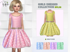 Sims 4 — Girls Dresses Collection RPL38 by RobertaPLobo — :: 6 swatches :: Age: Child :: Occult: ALL :: New Mesh :: All