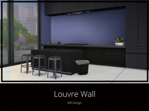 Sims 4 — Louvre Wall by MR_Design — Swatches: aqua, candy, citrus, denim, grass, hyacinth, ink, light gray, mango,