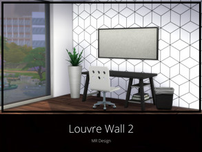 Sims 4 — Louvre Wall 2 by MR_Design — Louvre Wall 2 8 swatches