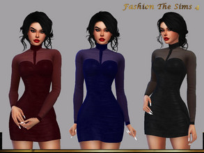 Sims 4 — Dress Andressa by LYLLYAN — Dress in 5 colors. Base game.