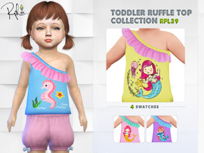 Sims 4 — Toddler Ruffle Top Collection RPL39 by RobertaPLobo — :: 4 swatches :: Occult: ALL :: Outfit: