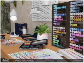 Sims 4 — Creative corner by Severinka_ — A set of decor for the design of a creative corner. For the most creative sims