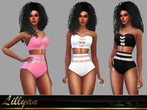 Sims 4 — Bikini Samanta by LYLLYAN — Bikini in 8 colors. Base game.