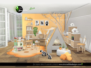 Sims 4 — Kids Camping decor by SIMcredible! — Add ons to enhance your sim kids and toddlers rooms cuteness. This set has