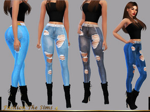 Sims 4 — Jeans Carolina by LYLLYAN — Jeans in 7 colors. Base game .