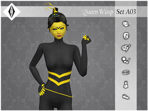 Sims 4 — Queen Wasp - SetA03 by AleNikSimmer — THIS IS THE FULL SET. -TOU-: DON'T reupload my items as yours. DON'T
