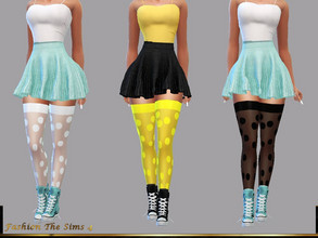 Sims 4 — Clarice Socks by LYLLYAN — Socks in 8 colors. Base game.