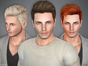 Sims 3 — #200C&D Male Hairstyles - Sims 3 by Cazy — Hairstyle set including C and D versions of #200 for Teen, Young